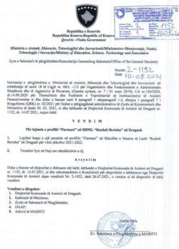 """Në SHML """"Ruzhdi Berisha"""" rihapet drejtimi për Farmaci"""